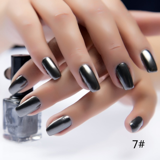 New 17 Colors Metalic Nail Polish Stainless Steel Mirror Silver Nail Polish Nails  Art Tips Varnish - New 17 Colors Metalic Nail Polish Stainless Steel Mirror Silver Nail