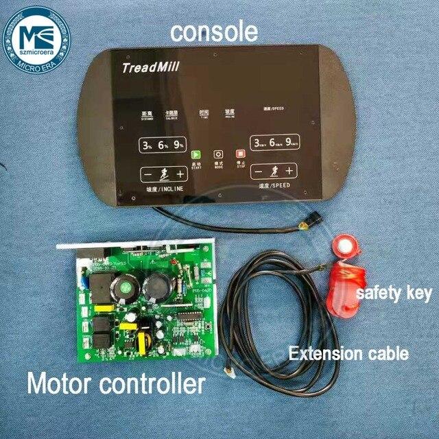 Uniwersalny sterownik silnika bieżni górna konsola diplay płyta sterowania + zestawy kontrolerów bieżni ekranu dla silnika 0.75 4.0HP