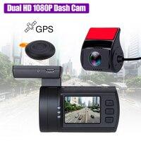 Мини 0906 Dual тире Камера Full HD 1080 P автомобиля регистраторы sony IMX291 Сенсор двухканальный приборную панель автомобиля Регистраторы