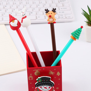 Image 2 - 40 Pcs קוריאני מכתבים חג המולד שלג יפה ניטראלי עט Creative מחט שחור חתימת עט 0.5mm