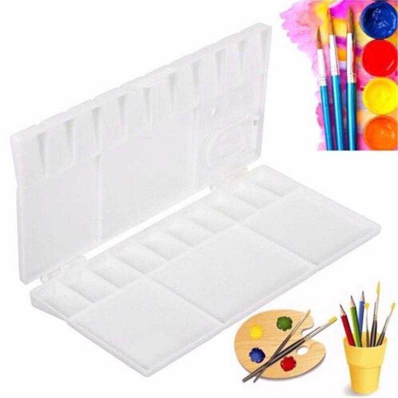 1Pcs 25 Grid Palette Empty Fold Watercolor Paint Palette With Full Pans Half Pans Art Plastic Palette Watercolor Palette Art