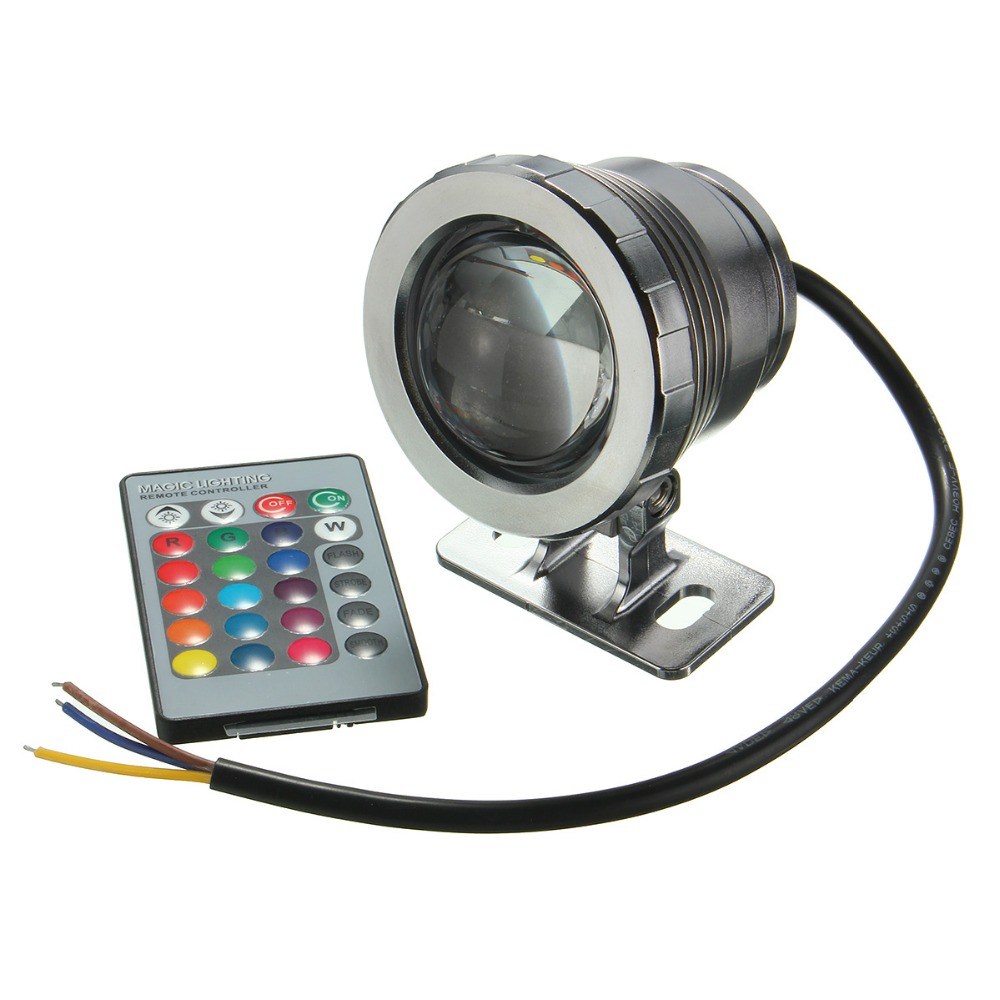 Mising 5W Waterproof IP68 RGB LED Light Fountain Pool Pond Spotlight Underwater Lamp With Remote Control AC85-265V/DC12V