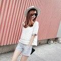 Европа летом 2015 короткими рукавами хлопок из двух частей дамы повседневная мода темперамент белье брюки костюм Г-Жа