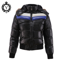 COUTUDI 2016 New Arrival Boy Down Jackets Polyester Fur Hoody Casual Jacket Coats For Kids Winter Windbreaker Coats High Quality