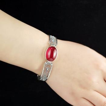 2018 Sale Armbanden Voor Vrouwen The Of S925 Jewelry Original Design Handmade Hollow Lady Festive Corundum Bracelet