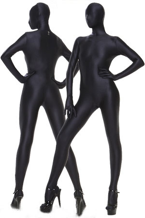 BetterParty Hot Selling Lycra Spandex Full Body Suit Black Zentai Suit with Free Shipping