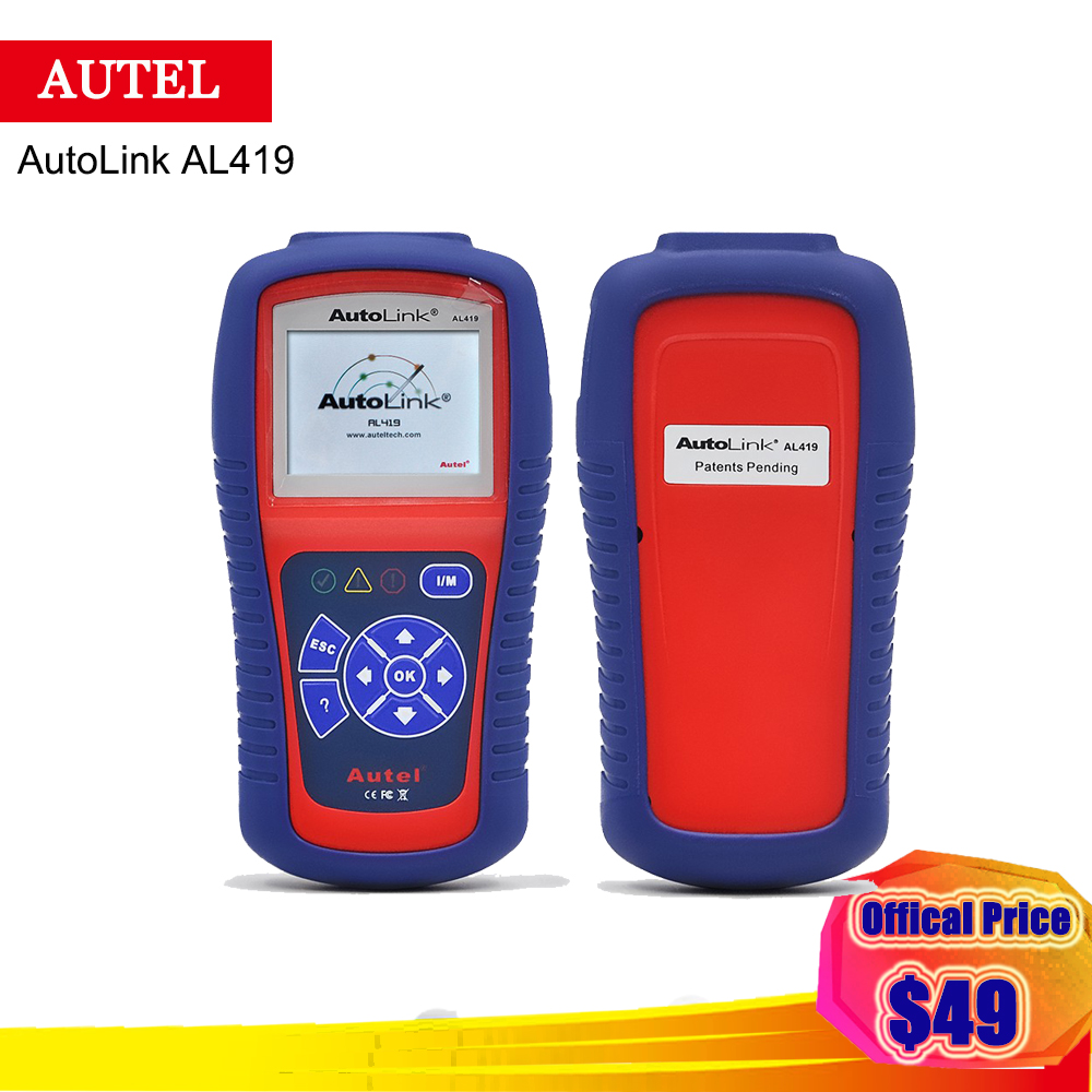 Autel AutoLink AL419 OBD II & CAN Code Reader al419 CR419 419 Car Diagnostic Scan Tool