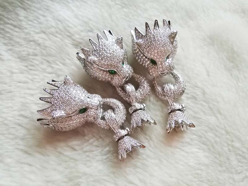 Bleu/rouge/blanc/couleur léopard bijoux perle fermoir serrure FPPJ crochet - 3