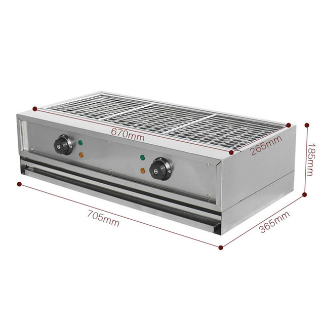 NEW Electric BBQ Grill Commercial Desktop Smokeless Barbecue Oven Stainless Steel Home Tool