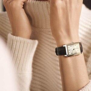 Image 3 - Agelocer 최고 브랜드 럭셔리 드레스 시계 빛나는 석영 시계 가죽 스트랩 시계 스틸 시계 3403a1