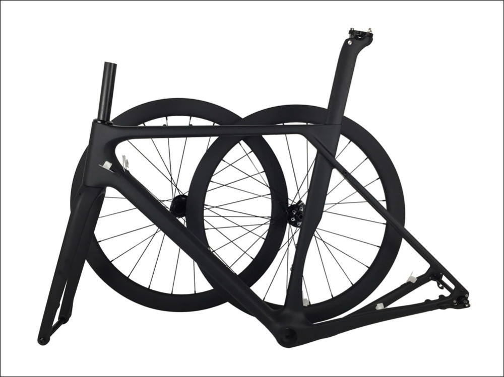 Best Spcycle 2019 New Aero Carbon Cyclocross Gravel Bike Frame And Wheelset T1000 Carbon Disc Brake Road Bike Frameset 49/52/54/56cm 2