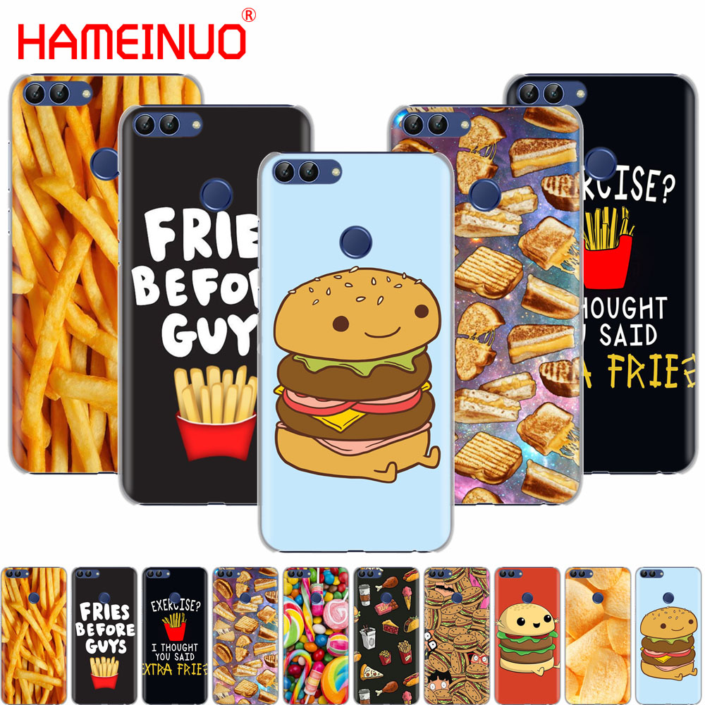 HAMEINUO Cute food fries burger funny <font><b>cell</b></font> <font><b>phone</b></font> Cover Case for <font><b>huawei</b></font> Honor 7C Y625 Y635 <font><b>Y6</b></font> Y7 Y9 2017 2018 Prime