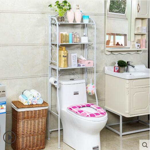 Image 5 - Bathroom shelf toilet shelf floor toilet shelf-in Storage Holders & Racks from Home & Garden