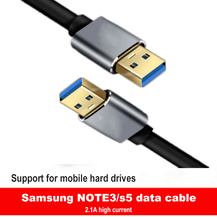 USB to USB Cable Type A Male to Male USB 2.0 Extension Cable for Hard Drive Disk Radiator Computer Camera Cable Extender USB image