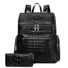 Luxury Brand 100% Genuine Leather Men Backpack Alligator Real Natural Leather St