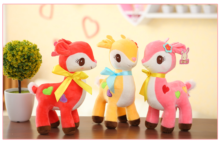 Hot sale 1pc 30cm Deer doll plush toys new sika deer childrens doll chidren gifts