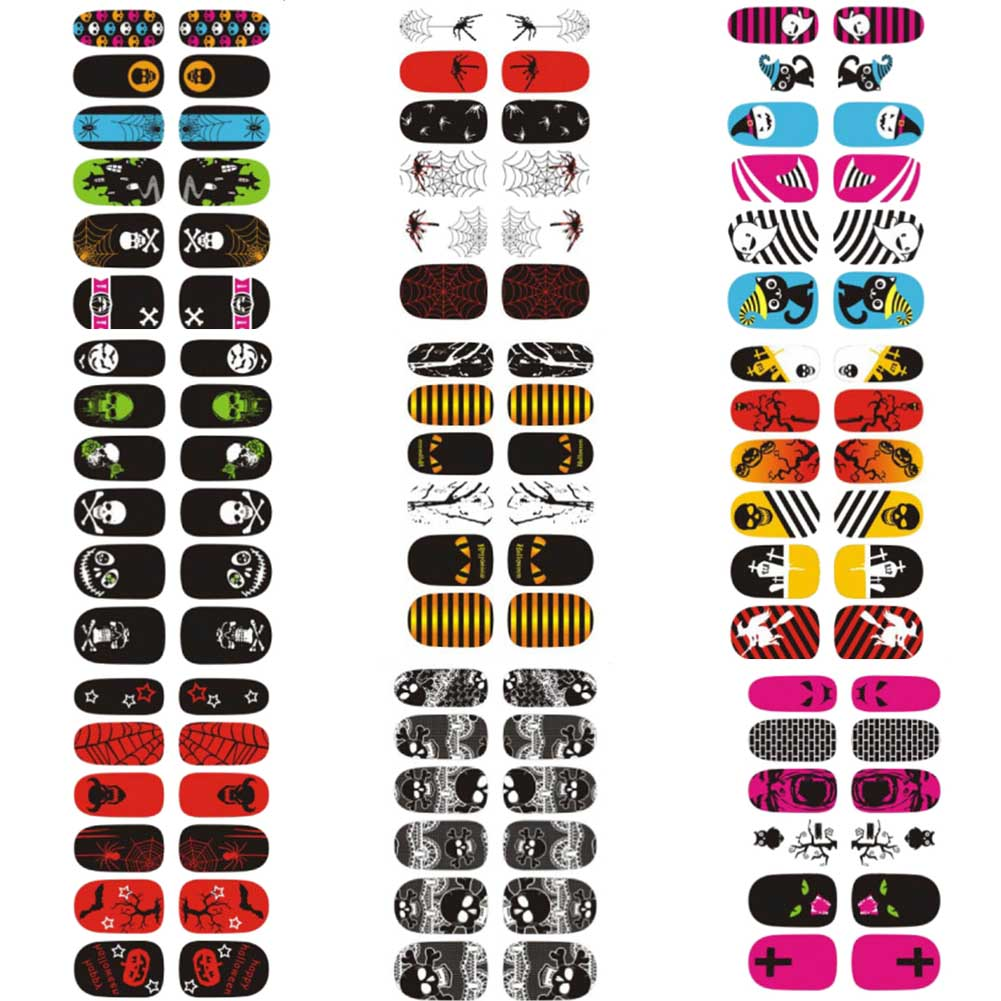 New Latest Horror Nail Wrap Designs Manicure Decals ...