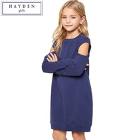 HAYDEN Girls Dresses for Teenagers 6 7 8 9 10 11 12 13 14 Years Big Girls Sweatshirt Dress Kids 2017 Autumn Dress Long Sleeves