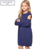 HAYDEN Kızlar Elbiseler Gençler için 6 7 8 9 10 11 12 13 14 Yıl Büyük Kızlar Kazak Elbise Çocuklar 2017 Sonbahar Elbise Uzun kollu