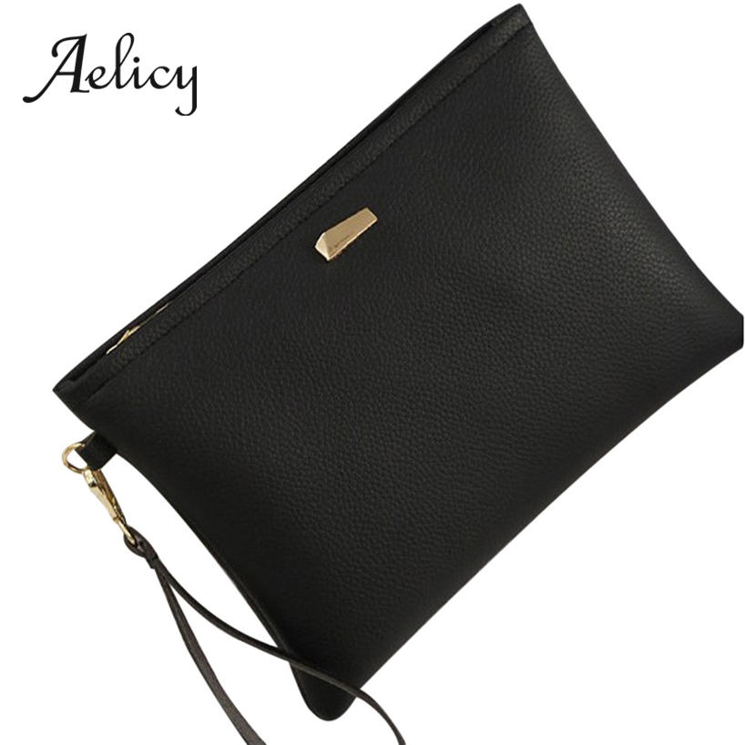 Aelicy Handbag Ladies Wrist-Chain Long-Purse Solid-Clutch Slim Women Mobile-Phone-Bag