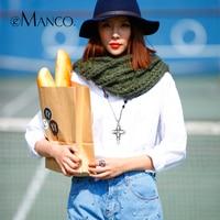 Fashion Mimosa Loop Wool Scarves For Women Knitted Crochet Soft Muffler Winter Neck Warmer 2016
