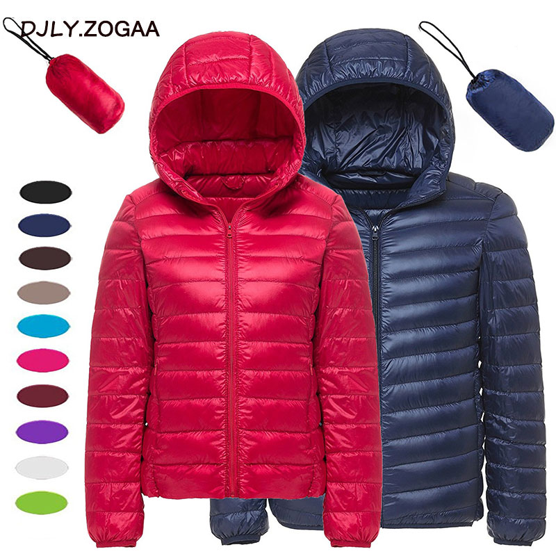 ZOGAA 2019 New Light Down Jackets Womens Short Autumn and Winter Thin Coat Women