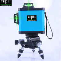 Yepbi 3D 12 Lines Laser Level Self Leveling 360 Horizontal And Vertical Cross Super Powerful GREEN Laser Beam Line
