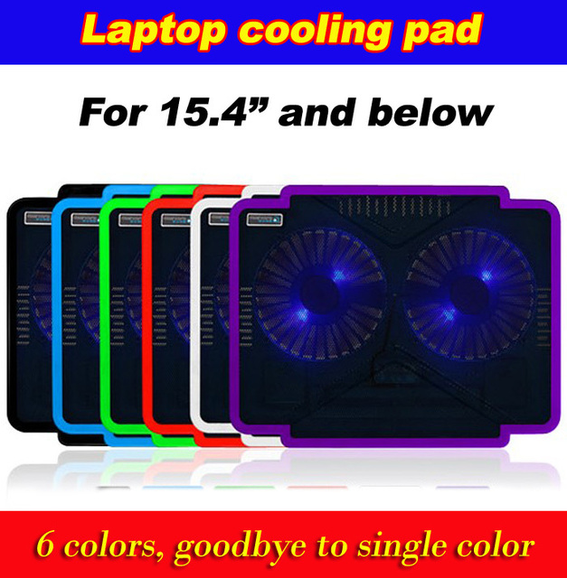 New arrival YLYCOOL C603 laptop/tablet cooling pads 2 large size turbine blade fans notebook cooler drop/free shipping