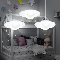 Creative cloud led chandelier kindergarten children room cloud light restaurant bar decoration rigid plastic lamp free shipping
