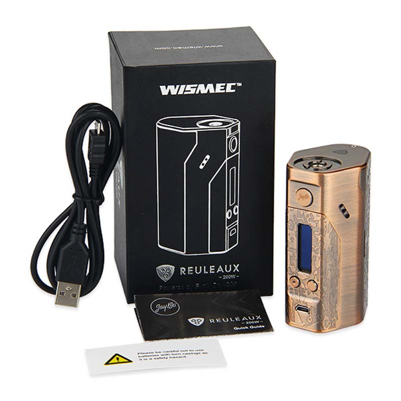 Authentic 200W WISMEC Reuleaux DNA200 TC Box Mod VW/TC Mod Electronic Cigarette RX DNA 200 Box Mod Huge Power by Jay Bo