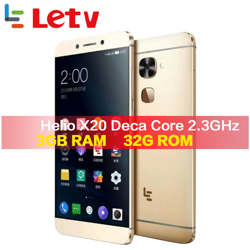 Letv Original Le2 X620 32G ROM Android6.0 teléfono Helio X20 Deca Core 2,3 GHz 5,5 16MP Cámara huella dactilar smartphone teléfono móvil