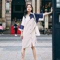 2016 verão camisa ocasional para as mulheres Street Style Splice Blusas mulher camisas soltas 1602 frete grátis