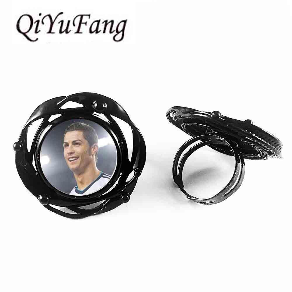Вентиляторы кулон цветок Большой кольцо Футбол мама ювелирные изделия Футбол подарок для Футбол плеер Футбол цветок большой кольцо Мужска...