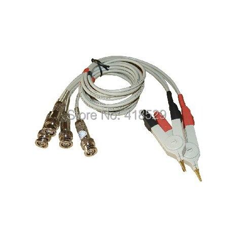 1 Set  Kelvin Clip 4 Port Test Clip Kelvin test cable for LCR Meter