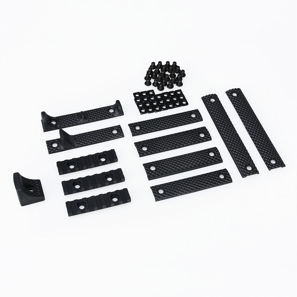 Nueva Llegada Tactical Accesorio Estilo KAC Rail Cover Set de Lujo Para Caza Dis