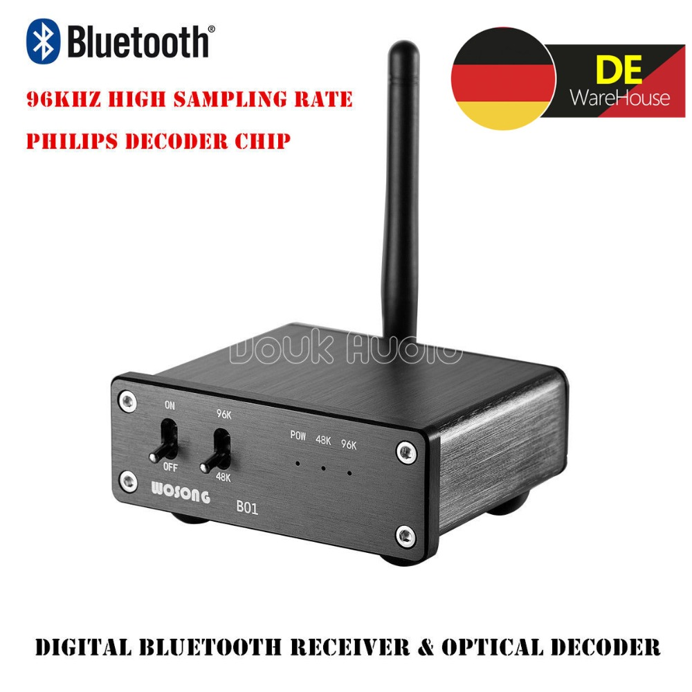 где купить 2018 Latest Nobsound HiFi Mini 96KHz Optical TOSLINK Audio Decoder Wireless Digital Bluetooth Receiver DAC дешево