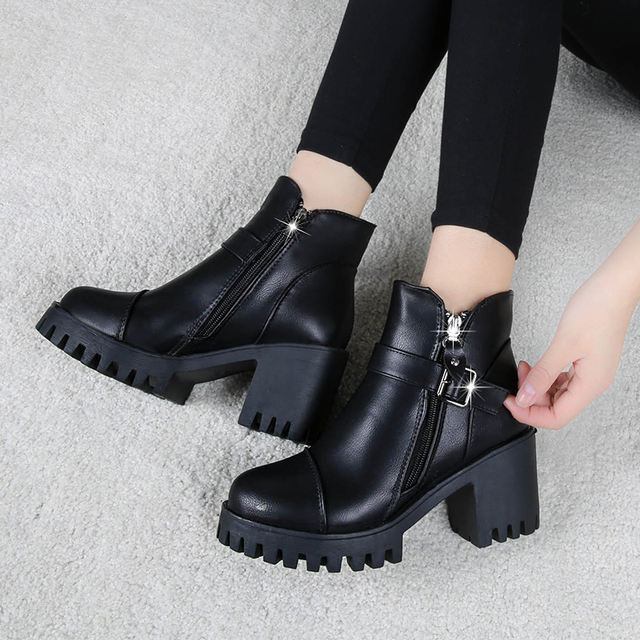 High Heels Ankle Boots Women Fashion Ladies Pumps Sexy Shoes Woman Size 35-39 3
