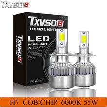 цена на TXVS08 2PCS LED H7 Car Headlight Bulbs 6000K COB Kit 110W 4600LM 360 Degrees White Auto Front Bulb Automotive Fog Headlamp