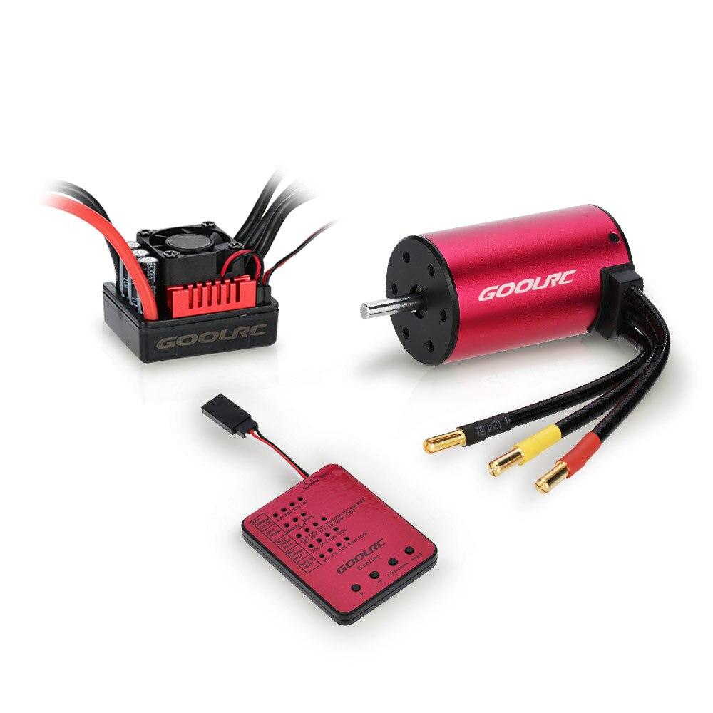 Original GoolRC S3660 3300KV Sensorless Brushless Motor 60A Brushless ESC and Program Card Combo Set for