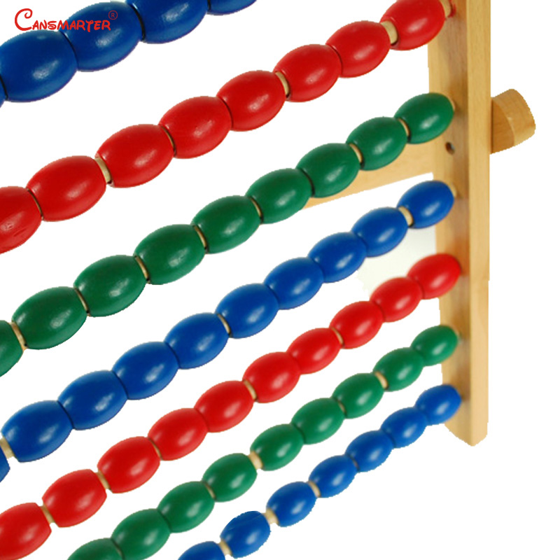 Wooden Colorful Beads Soroban Abacus Math Toys Calculation Children Educational Numbers Training Montessori Materials MA035-3