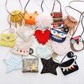 Niños bolsa de mensajero tela de algodón Lindo de LA PU de cuero princesa de los bebés encantadores monederos crossbody bolsos de moda 2017 niños bolsa
