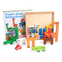 3D Puzzle Jigsaw Wooden Toys Cartoon Animals Puzzles Child Educational Toy Children Tangram Jigsaw Board Toys for gift