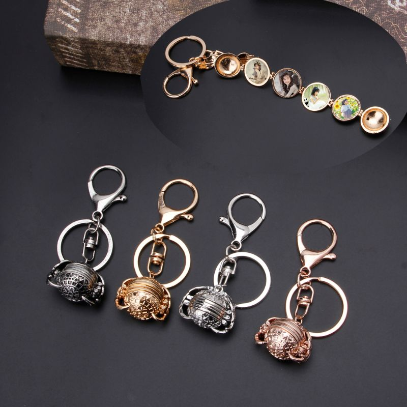 Magic Expanding 4 Photo Pendant Memory Floating Locket keychain Ball Angel Wing Key Chain Memorial Jewlery Gifts in Key Chains from Jewelry Accessories