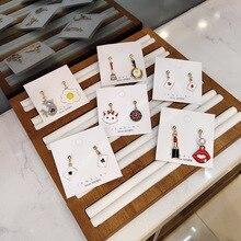 Korean Japan Anti-allergy Cute Cartoon Cat Poker Fried Eggs Woman Dangle Drop Earrings Handmade Fashion Jewelry-JQD5 korean handmade pink irregular geometric anti allergy 2019 woman dangle drop earrings fashion jewelry holiday jqd5