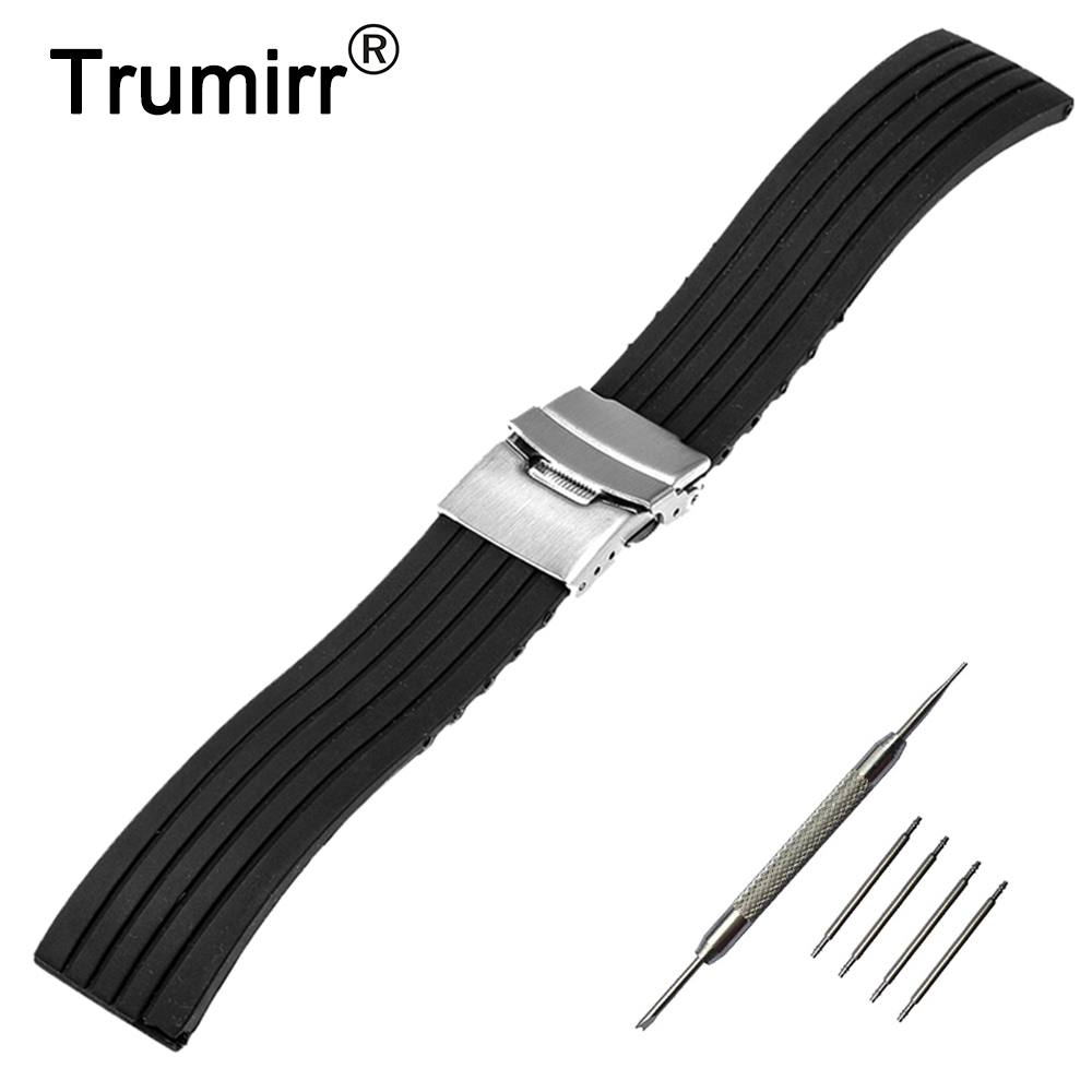 17mm 18mm 19mm 20mm Silicone Rubber Watch Band for DW Daniel Wellington Wrist Watch Strap Stainless Steel Safety Buckle Bracelet