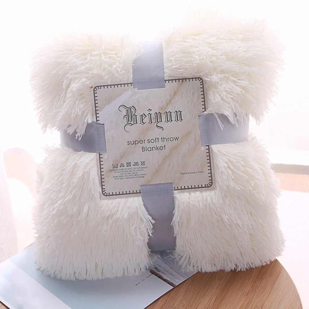 Многофункциональное плюшевое одеяло 130x160 см для уютного дивана кровать кондиционер покрывала манты ковер утолщенное теплое покрывало одеяло