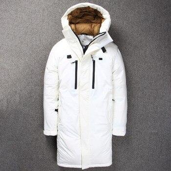 Top Grade 2019 zima z kapturem mody marki dół kurtki męskie