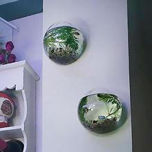 Garden Supplies Home Hanging Glass Ball Vase Flower Planter Pots Terrarium Container Home Garden Decoration