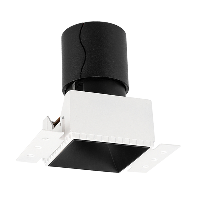 SCON LED 7W/12W Embedded Ceiling Spotlight COB Square Framless Hotel anti-glare wall washing lamp CRI Ra>93 4000k natural light дополнительная фара gofl glare of light gl 0470 3311