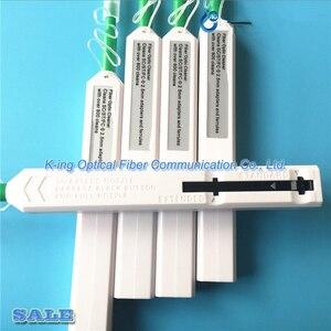 Image 2 - La penna a fibra ottica del pulitore del connettore di un clic di 5 pz/lotto per la ST dello SC e i Ferrulers 800 del pulitore della fibra dei connettori di FC E2000 pulisce
